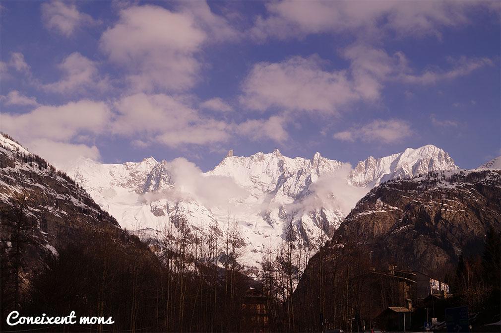 El Mont Blanc des de Courmayeur