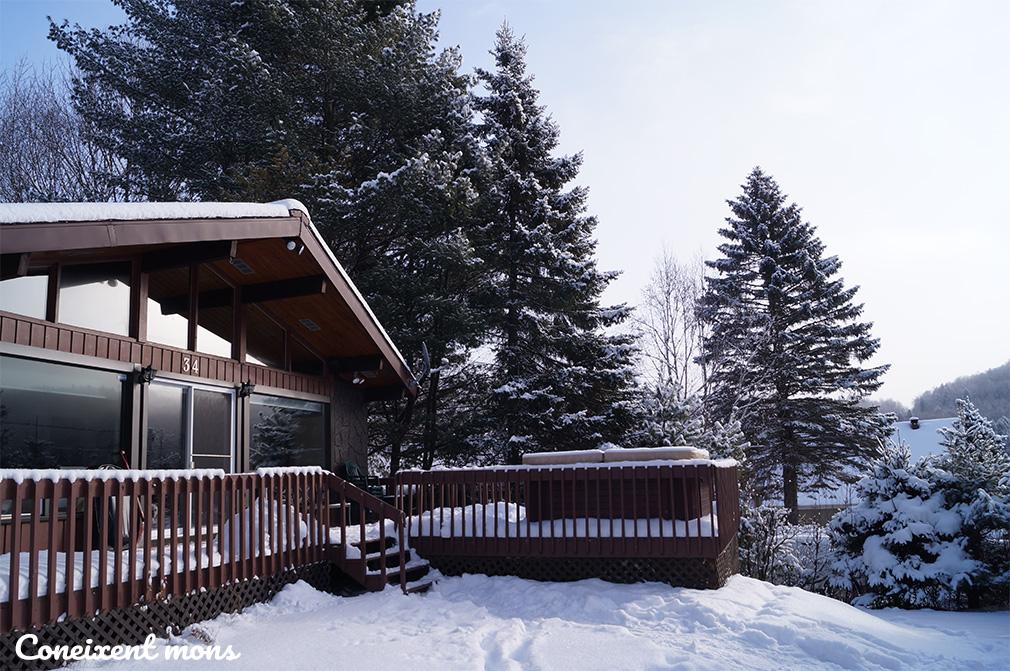 Cap de setmana en un xalet al bosc; tradició hivernal del Quebec